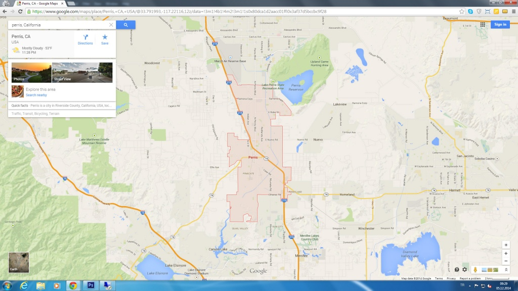 Perris California Map - Perris California Map