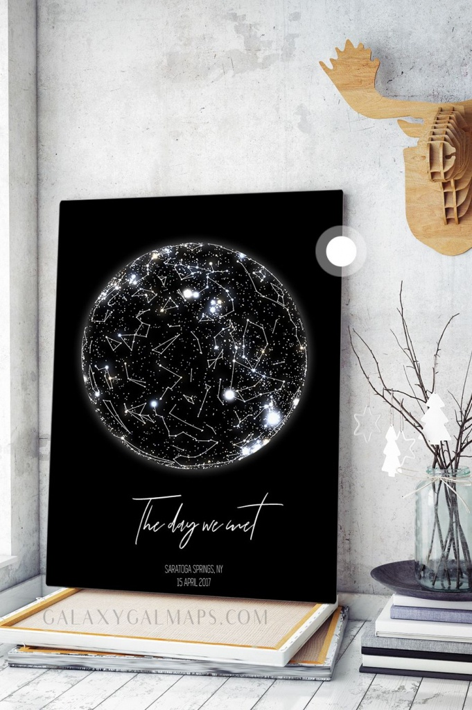 Personal Star Mapdate And Location - Astronomy Gifts Wall Art - Printable Star Map By Date