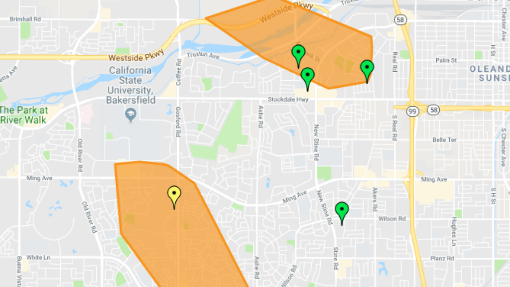 Pg&e: Second Power Outage In Sw Bakersfield Impacting Over 2000 - California Power Outage Map