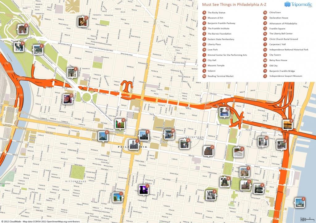 Philadelphia Printable Tourist Map In 2019 | Free Tourist Maps - Philadelphia City Map Printable