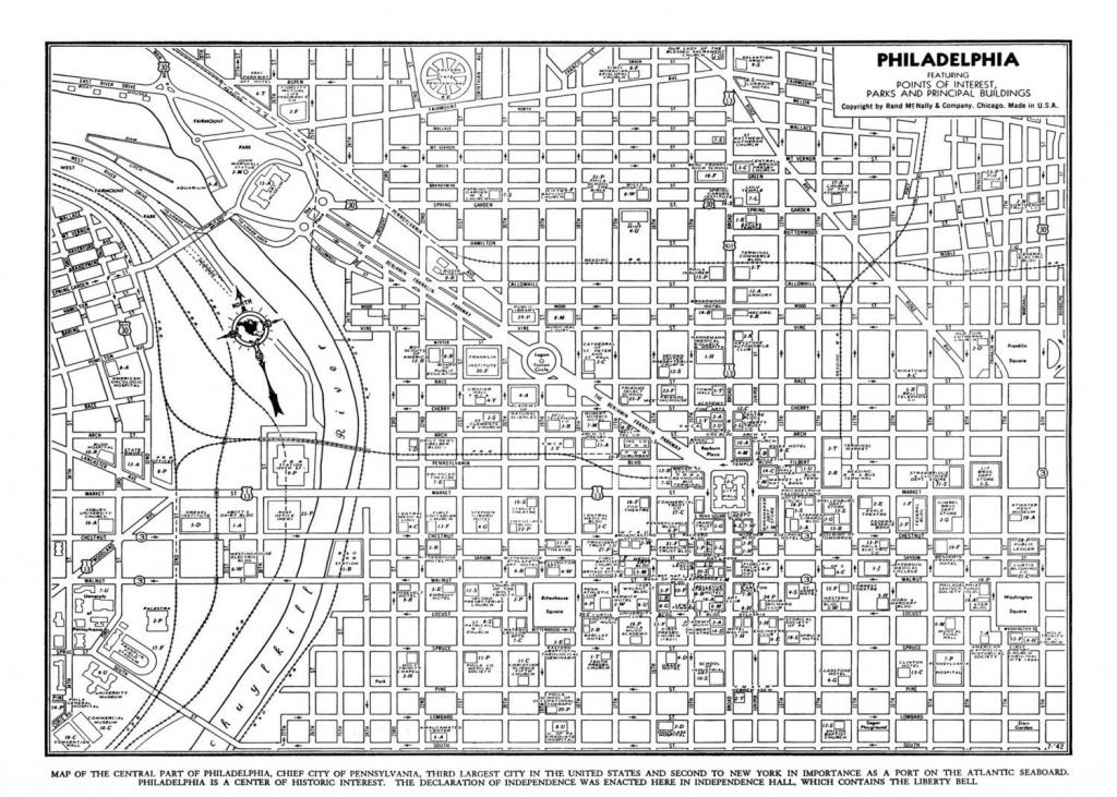 Philadelphia Street Map Vintage Print Poster | Etsy - Philadelphia Street Map Printable
