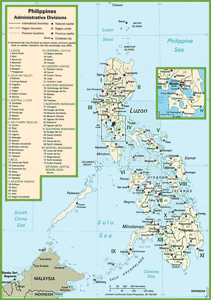 Philippines Political Map - Printable Map Of The Philippines