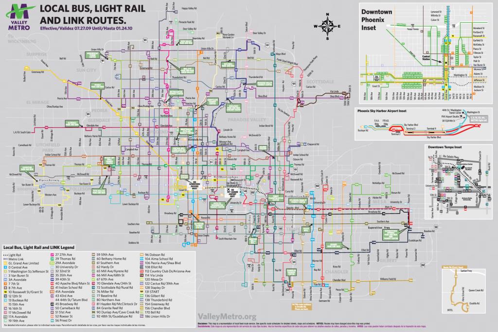 Phoenix Street Map And Travel Information   Download Free Phoenix - Printable Map Of Phoenix