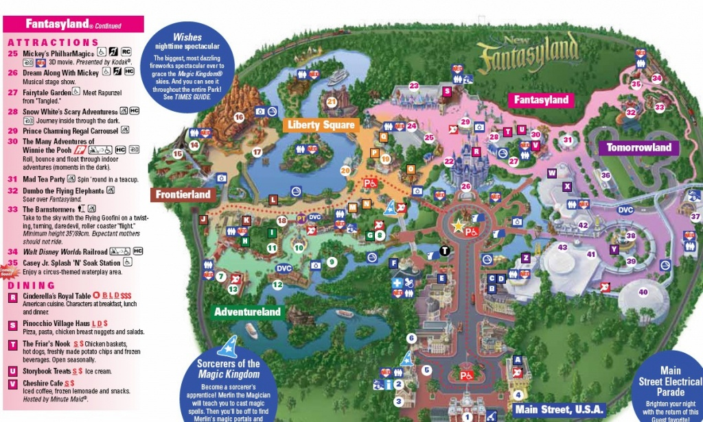 Photo Storybook Circus On New Magic Kingdom Park Map Today Disney - Disney World Map 2017 Printable