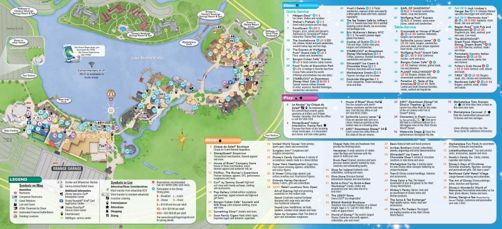 Photos - New Downtown Disney Guide Map Includes Disney Springs Name - Map Of Downtown Disney Orlando Florida