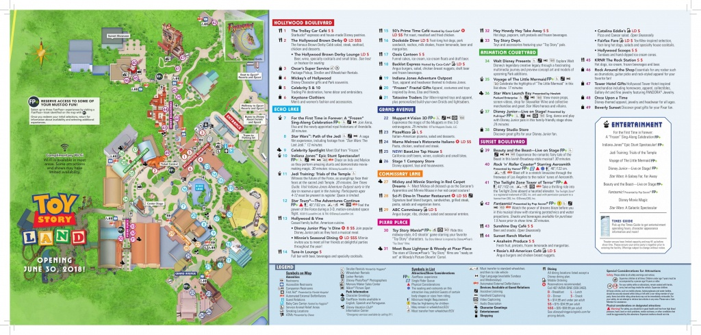Photos: Toy Story Land Added To Updated Guide Map For Disney's - Toy Story Land Florida Map