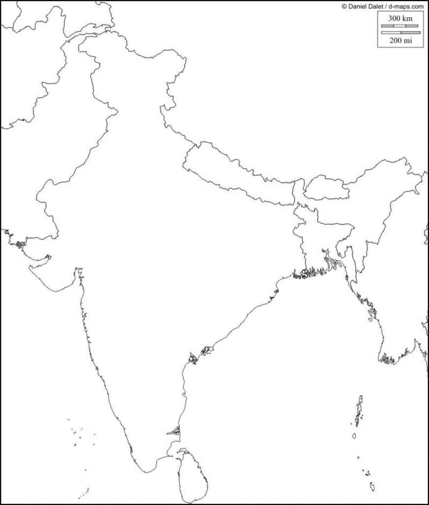Physical Map Of India Blank Southern Within South Asia 871×1024 4 - Physical Map Of India Printable