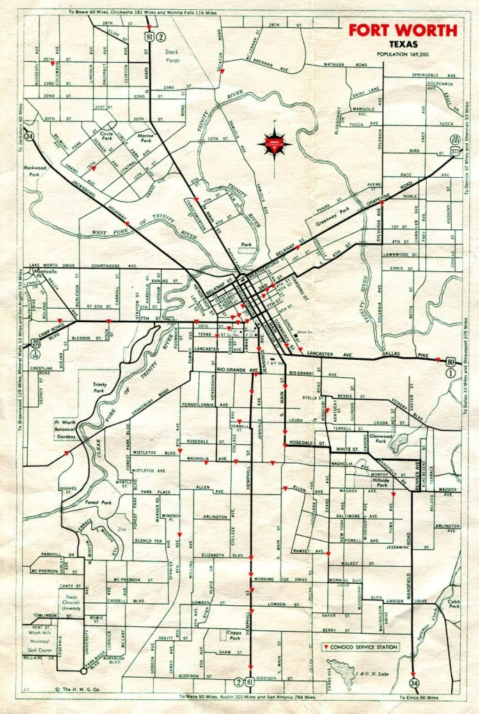 Pinattia Roman On Texas <3 | Fort Worth, Texas History, Lone - Street Map Of Fort Worth Texas