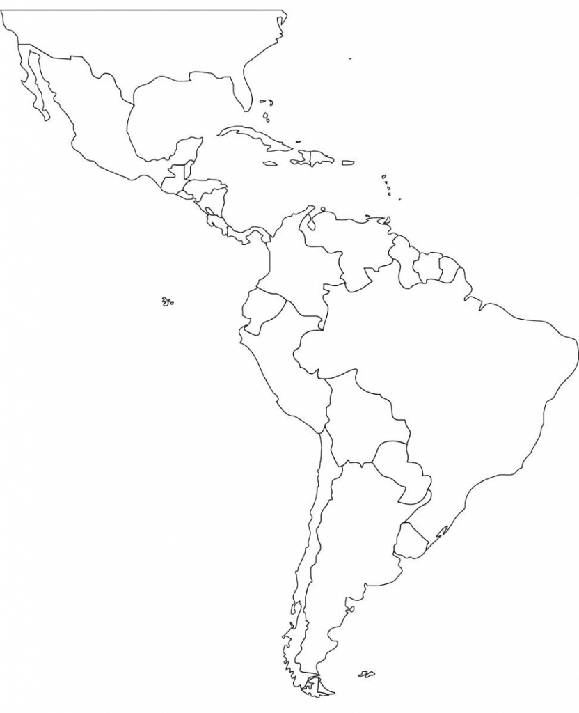 Pincecilia Dominguez On Cecilia   Latin America Map, South - Printable Blank Map Of South America