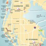 Pinellas County Map Clearwater, St Petersburg, Fl | Florida   Clearwater Beach Florida On A Map