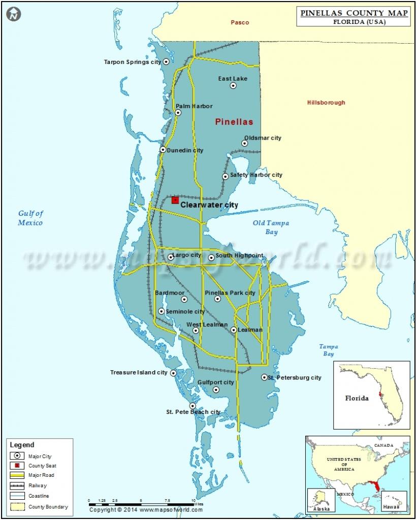 Pinellas County Map, Florida - Terra Verde Florida Map