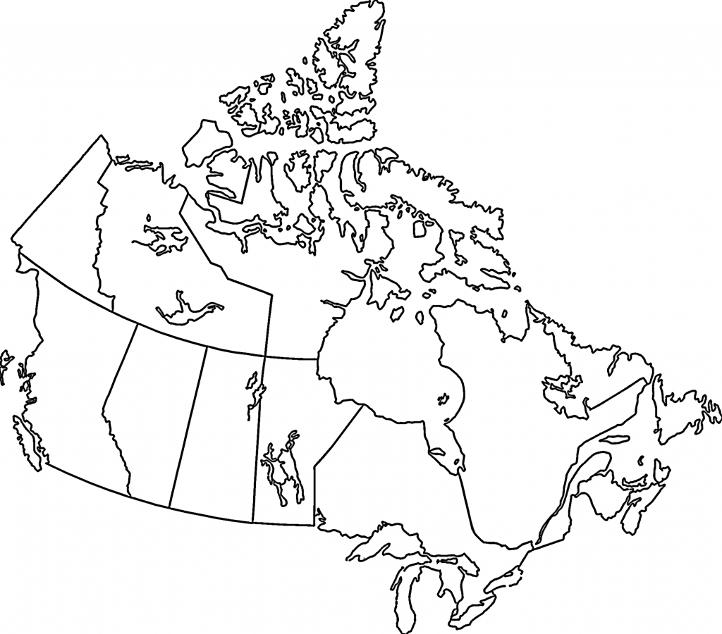 Pinfrancis Huynh On Df | Map, Map Outline, Canada - Printable Blank Map Of Canada To Label