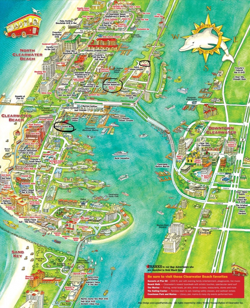 Pinholly Waddell On Clearwater Beach | Florida Vacation - Clearwater Beach Florida On A Map