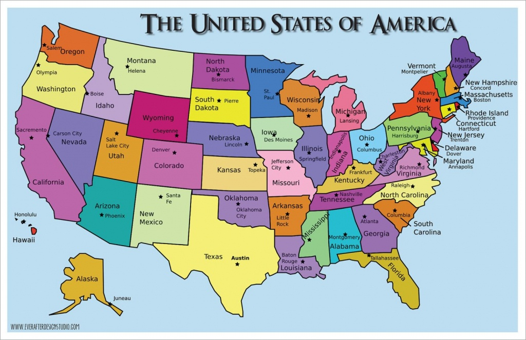Pinlydia Pinterest1 On Maps | States, Capitals, United States - Printable Map Of Us Capitals