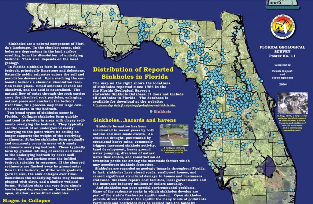 Pinmargaret Hampton On Sinkholes In 2019   Florida, Florida - Florida Sinkhole Map By County