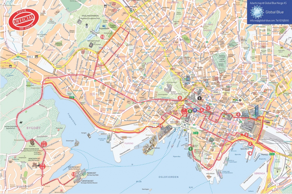 Pinpenny Tubbs-Johnson On Baltic | Oslo, Tourist Map, Norway - Oslo Tourist Map Printable