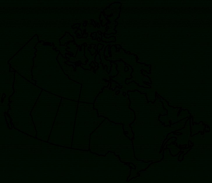 Printable Blank Map Of Canada
