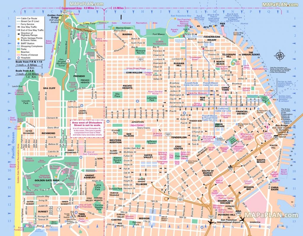 Pinricky Porter On Citythe Bay | San Francisco Map, Usa - San Francisco City Map Printable