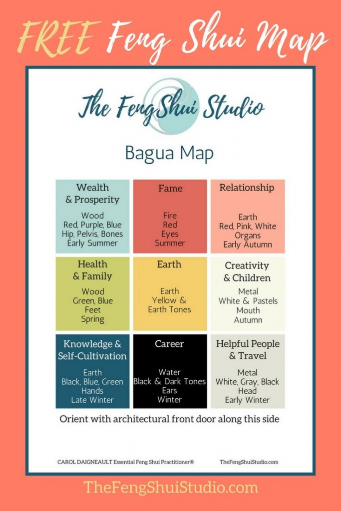 Pinthe Feng Shui Studio On Feng Shui Bagua Map In 2019 | Feng - Bagua Map Printable