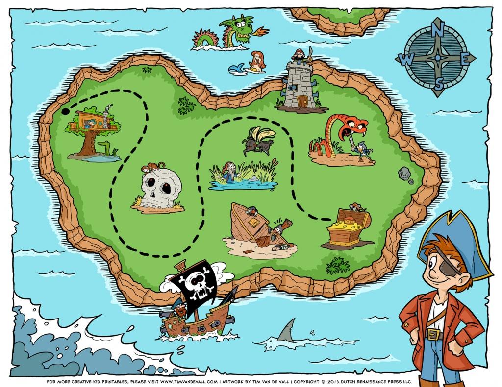 Pirate-Treasure-Map - Tim's Printables - Printable Pirate Map