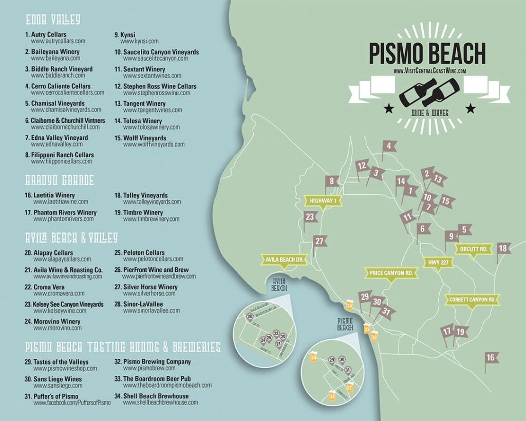 Pismo Beach Maps For Pismo Beach, California - Pismo Beach California Map