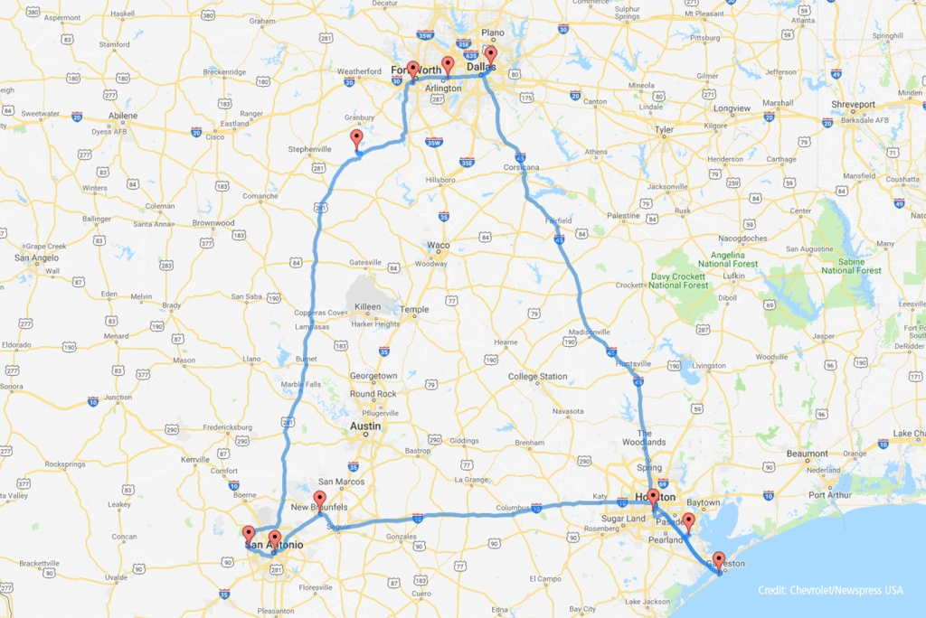 Places Missed On The 'perfect' Texas Road Trip Map | Roadloans - Texas Road Map 2018