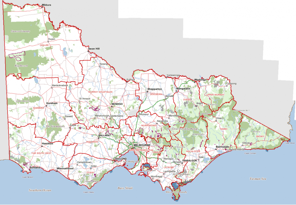 Places To Visit - Printable Map Of Victoria