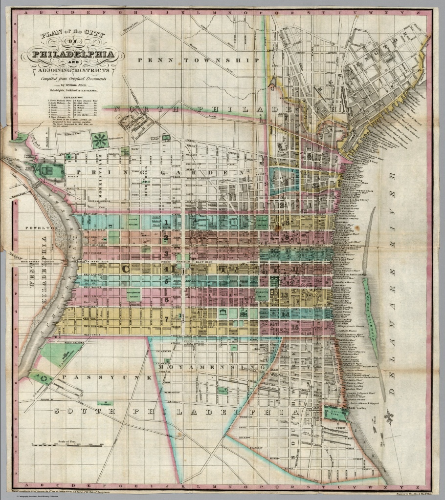 Plan Of The City Of Philadelphia - David Rumsey Historical Map - Printable Map Of Historic Philadelphia