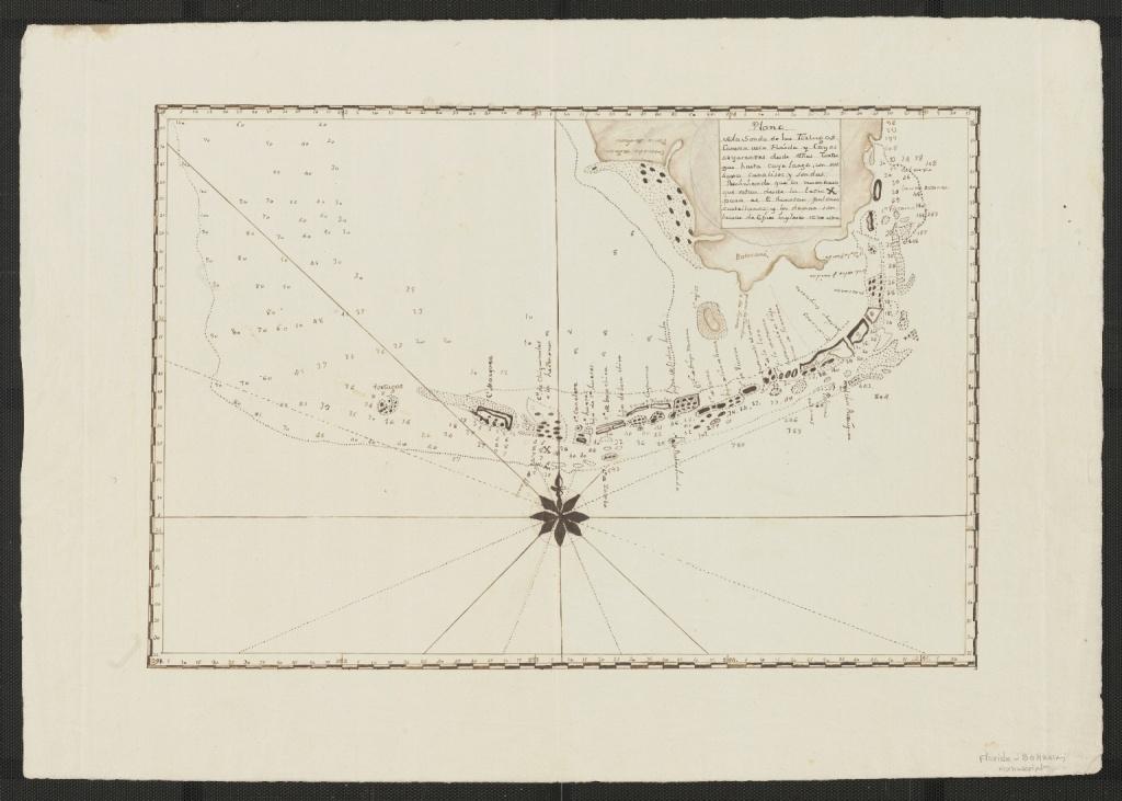 Plano De La Sonda De Las Tortugas Caveza De La Florida Y Cayos - Los Cayos Florida Map