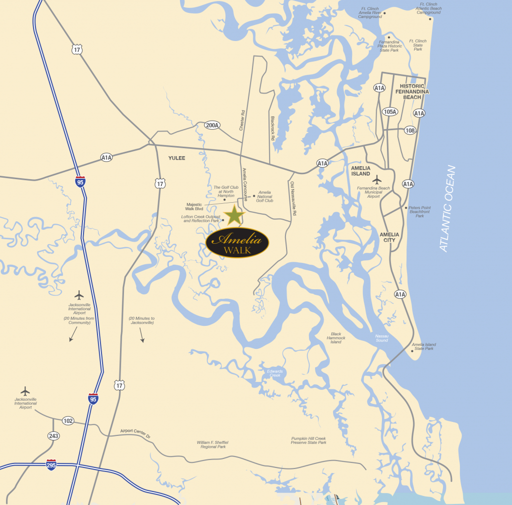 Points Of Interest | Amelia Walk - Amelia Island Florida Map