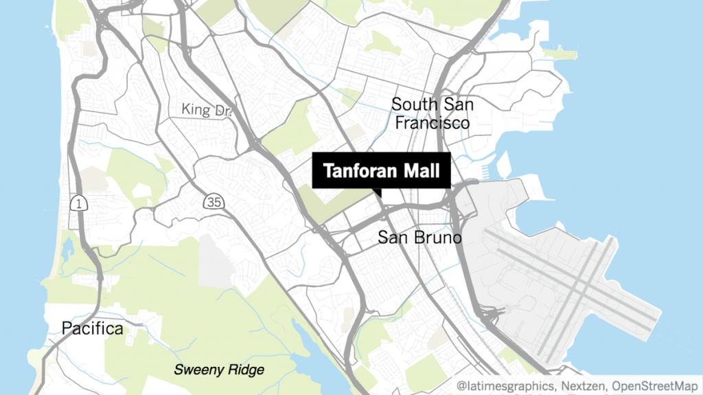 Police Respond To Reports Of Shooting At Mall Outside San Bruno - San Bruno California Map