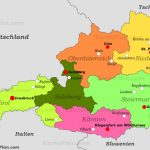 Political Map Of Austria With Cities   Printable Map Of Austria