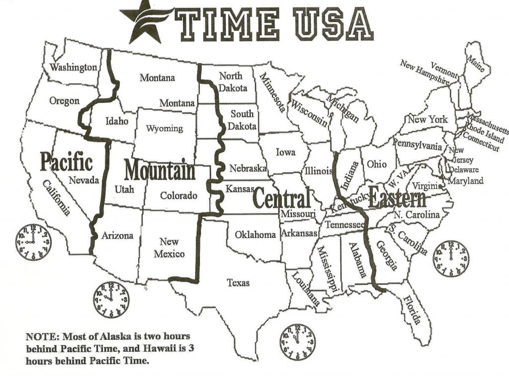 Political Map Of The Us 1964 1964 New Printable Map United States - Printable Map Of Us Time Zones With State Names