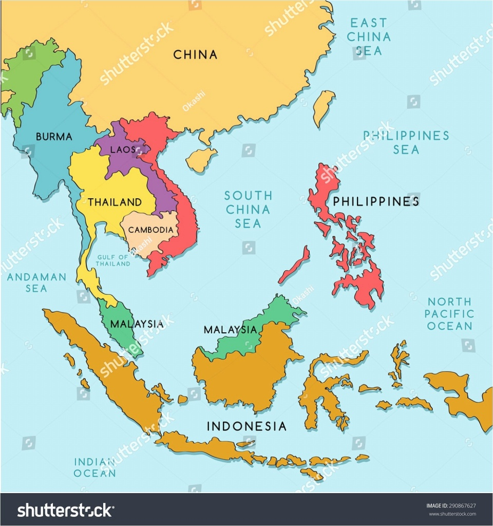 Political Map Southeast Asia New Printable Map South East Asia - Printable Map Of Southeast Asia