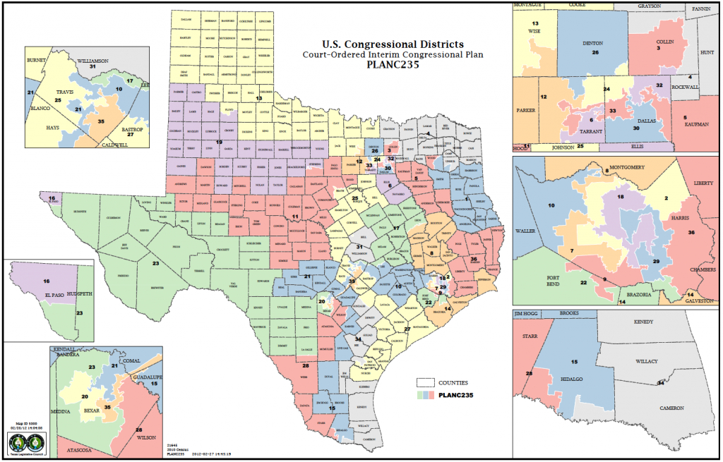 Political Participation: How Do We Choose Our Representatives - Texas State District Map