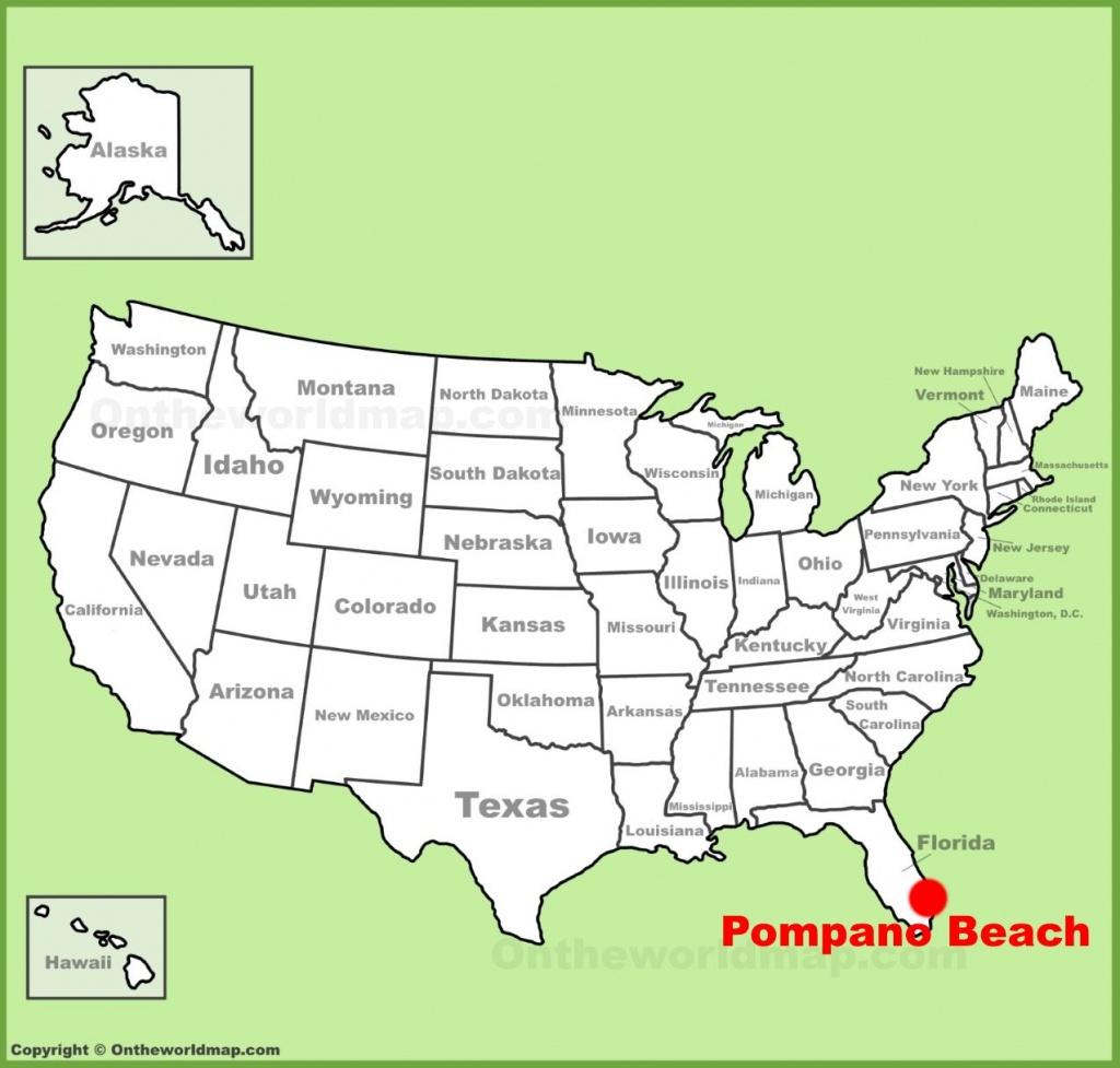 Pompano Beach Location On The U.s. Map - Pompano Florida Map