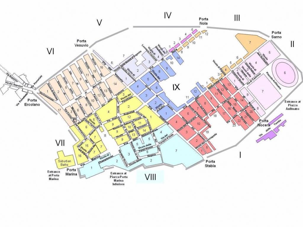 Pompeii Map | Pompeii | Pompeii, Pompeii, Herculaneum, Pompeii Italy - Printable Map Of Pompeii