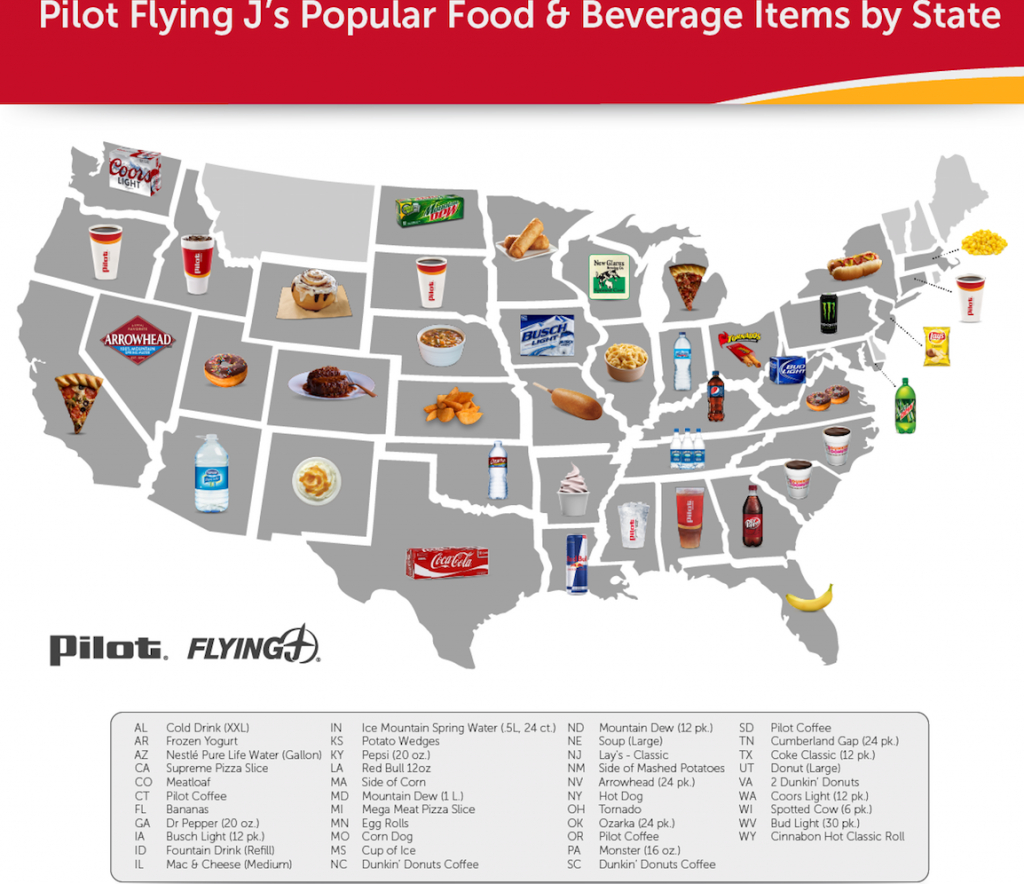 Popular Food – Pilot Flying J's Truck Stop | Mainlink Esports - Flying J California Map