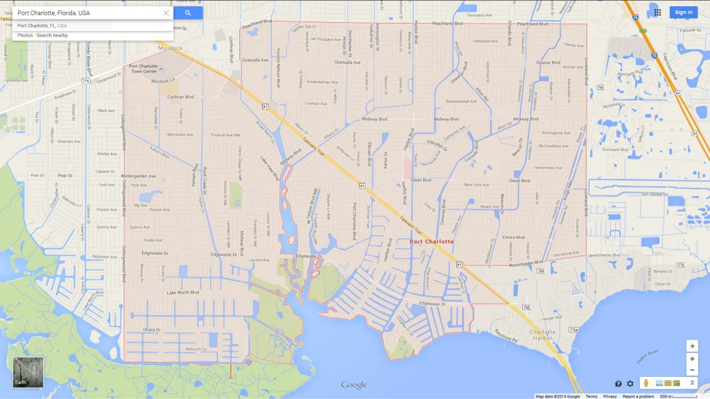 Port Charlotte Florida Map - Google Maps Port Charlotte Florida