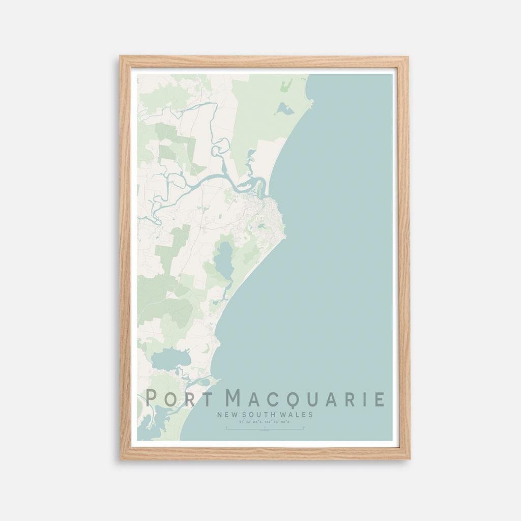 Port Macquarie Qld City Street Map Print | Wall Art Poster | Wall Decor |  A3 A2 - Printable Street Map Of Port Macquarie