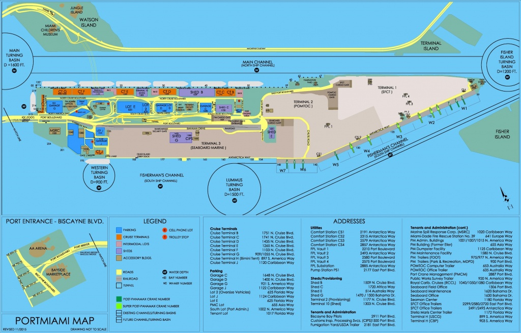 Port Of Miami Map - Miami Florida Cruise Port Map