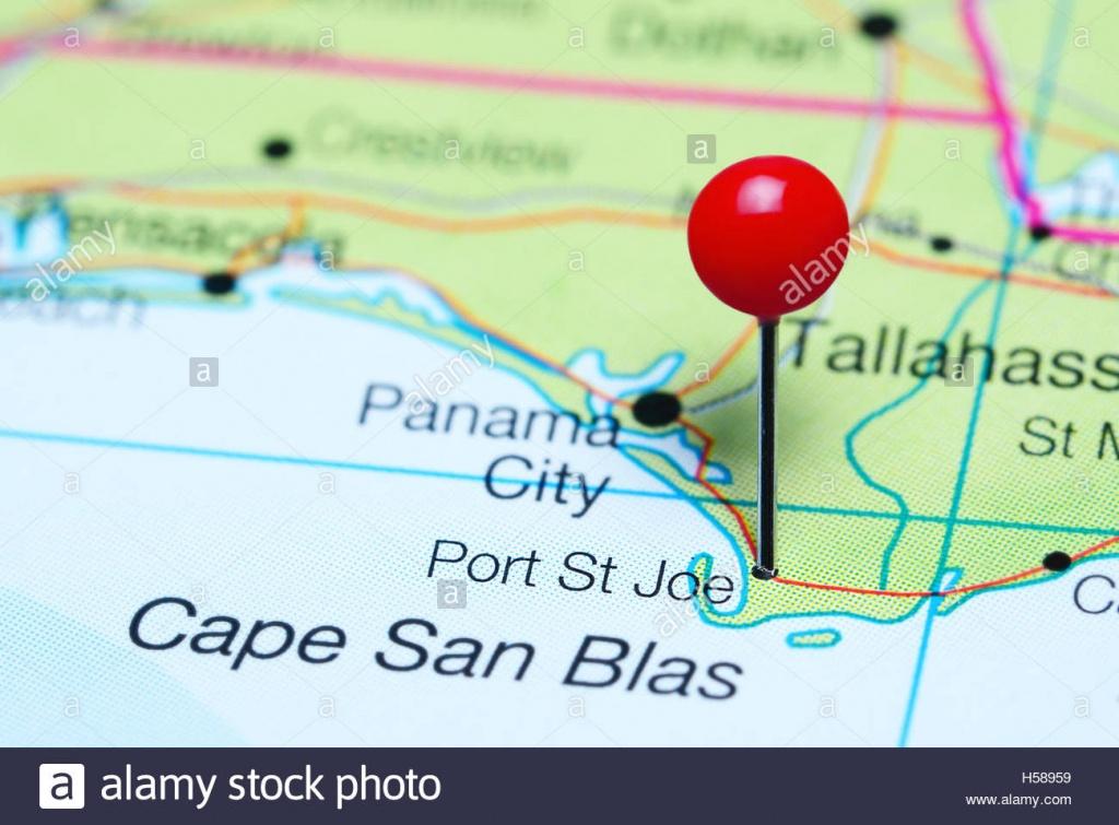 Port St Joe Pinned On A Map Of Florida, Usa Stock Photo: 123728677 - St Joe Florida Map