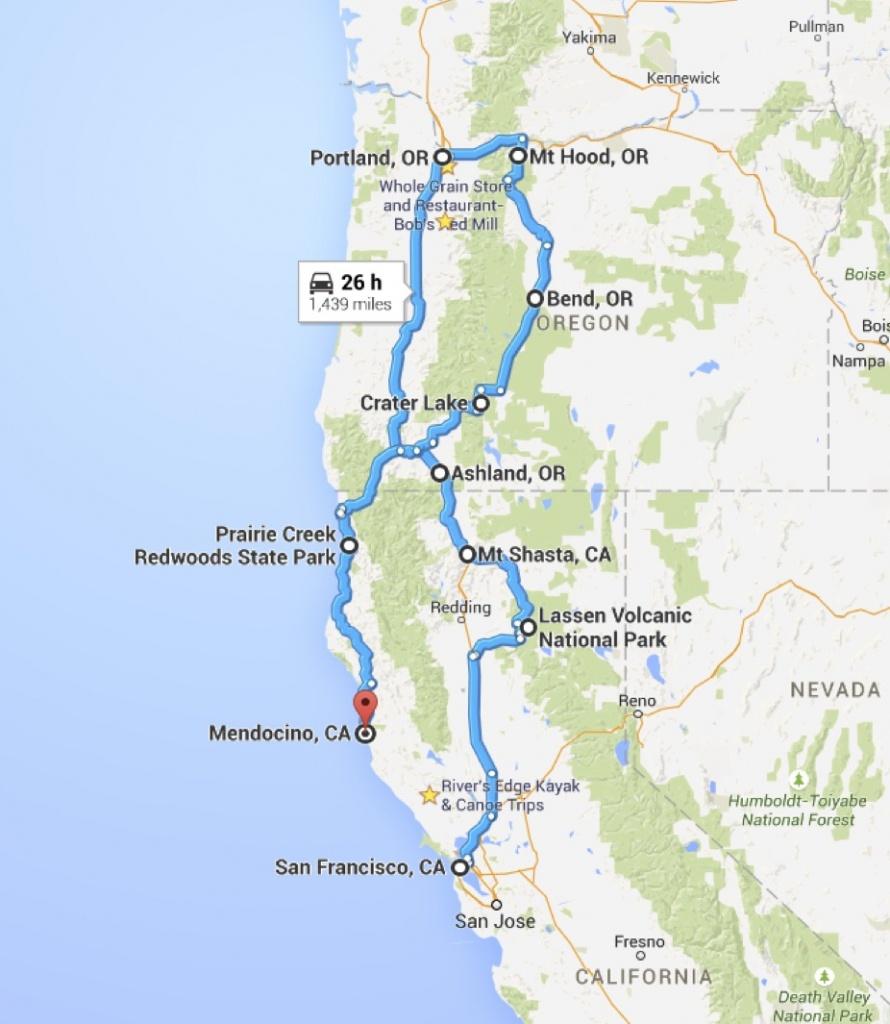 Power Travelers: California & Oregon Road Trip Planning - California Trip Planner Map