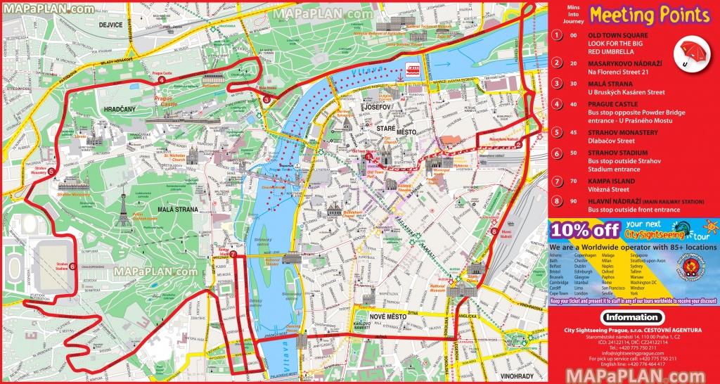 Prague Maps - Top Tourist Attractions - Free, Printable City Street Map - Printable Map Of Prague City Centre