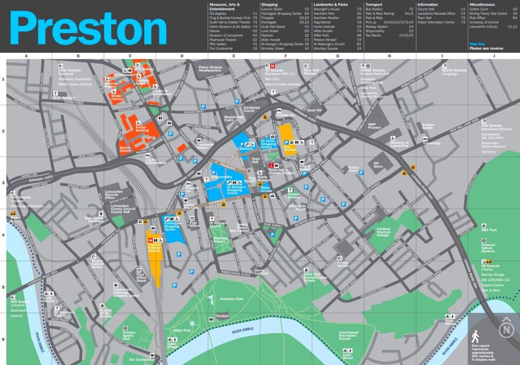 Preston Tourist Map - Blackpool Tourist Map Printable