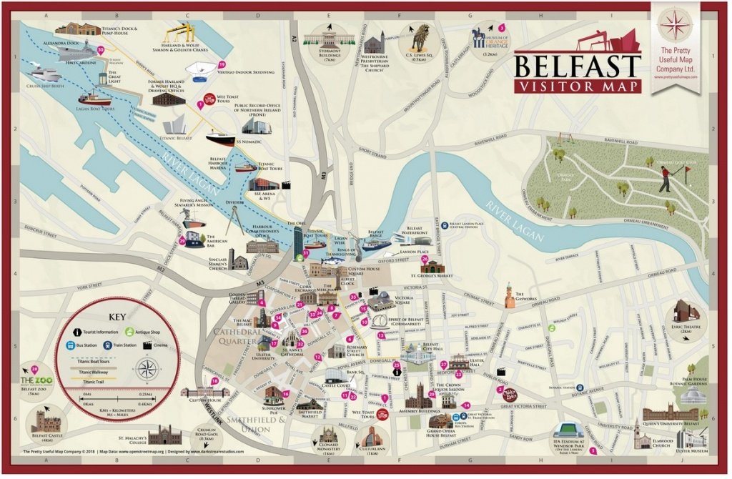 Pretty Useful Map Co.   Beautifully Illustrated Map Guides – Belfast Map - Belfast City Map Printable