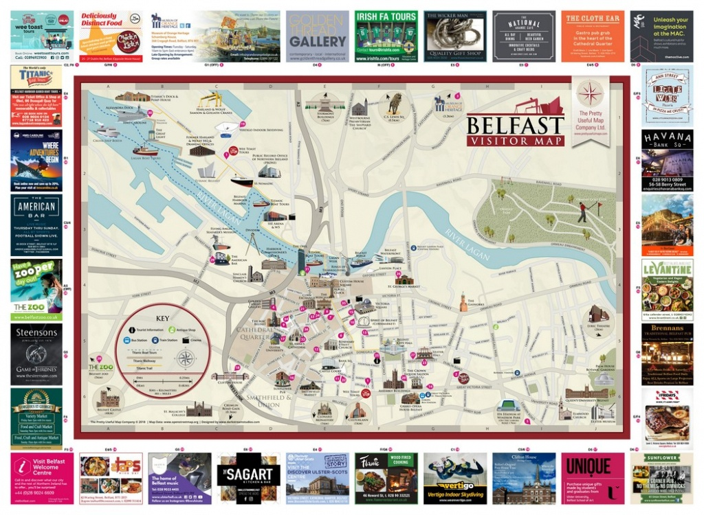 Pretty Useful Map Co. | Beautifully Illustrated Map Guides – Belfast Map - Us Quarter Map Printable