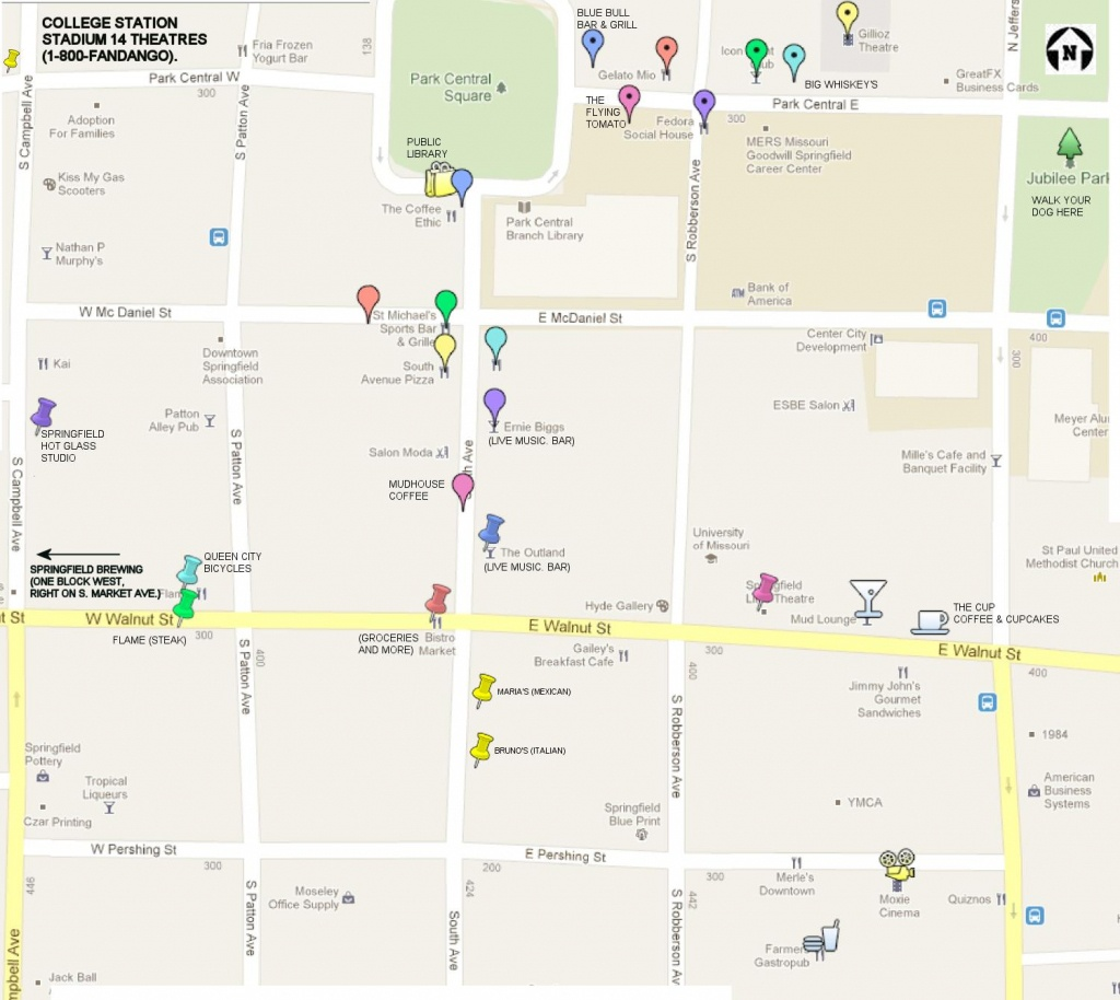 Print Map Of Downtown Springfield, Mo | 1-417-327-3911 | Aj Ellis - Printable Map Of Springfield Mo