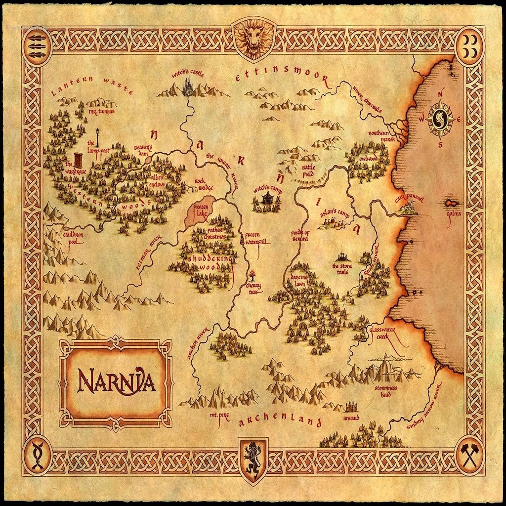 Print This Onto A Pillow   Diys, How To's, And Craft Ideas   Map Of - Printable Map Of Narnia
