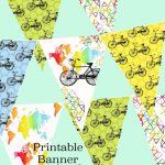 Printable Bike Bunting Map Banner Birthday Party Garland | Etsy   Printable Map Banner